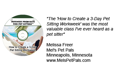 How to Creat a 3-Day Pet Sitting Workweek