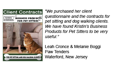 Pet Sitting Contracts for Pet Sitting Clients