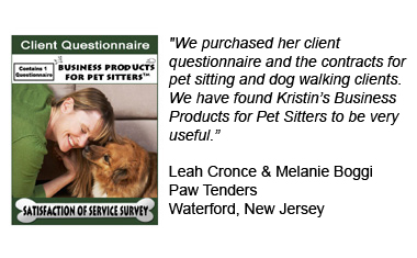 Client Questionnaire for Pet Sitters